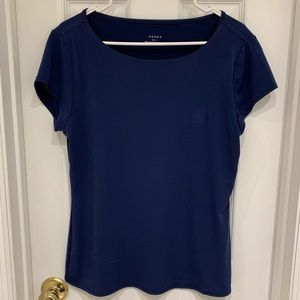 Navy Blue polyester top